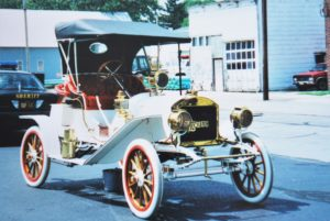 This 1909 Lambert car is on display in the James F. Dicke Transportation Center at Carillon Historical Park in Dayton, Ohio.
