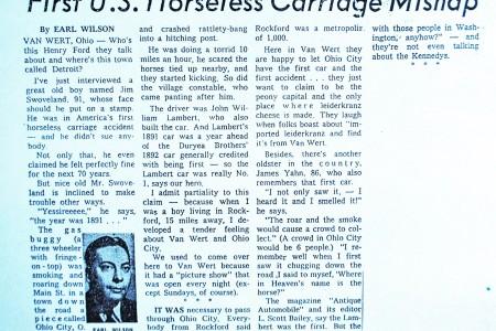 Jim Swoveland, America's First Passenger – Interview 1962